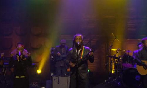 Ziggy Marley performs on Conan O'Brien