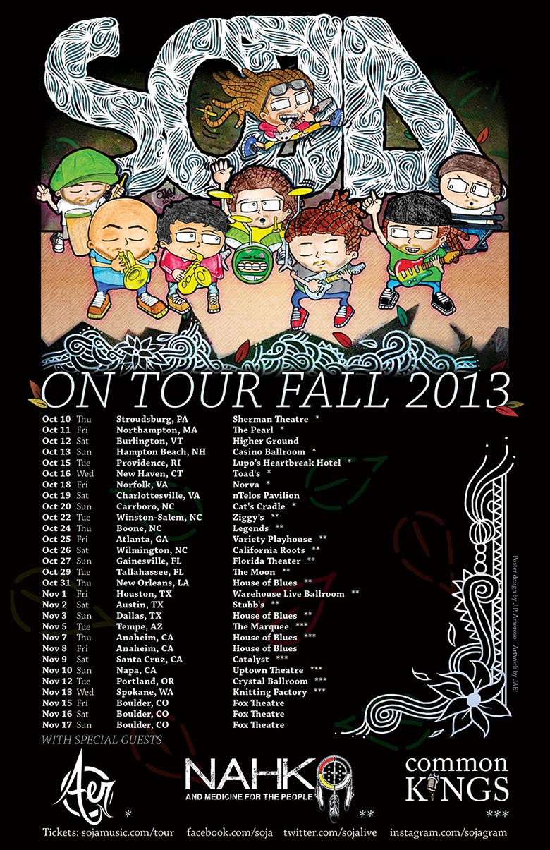 SOJA Fall 2013 Tour poster