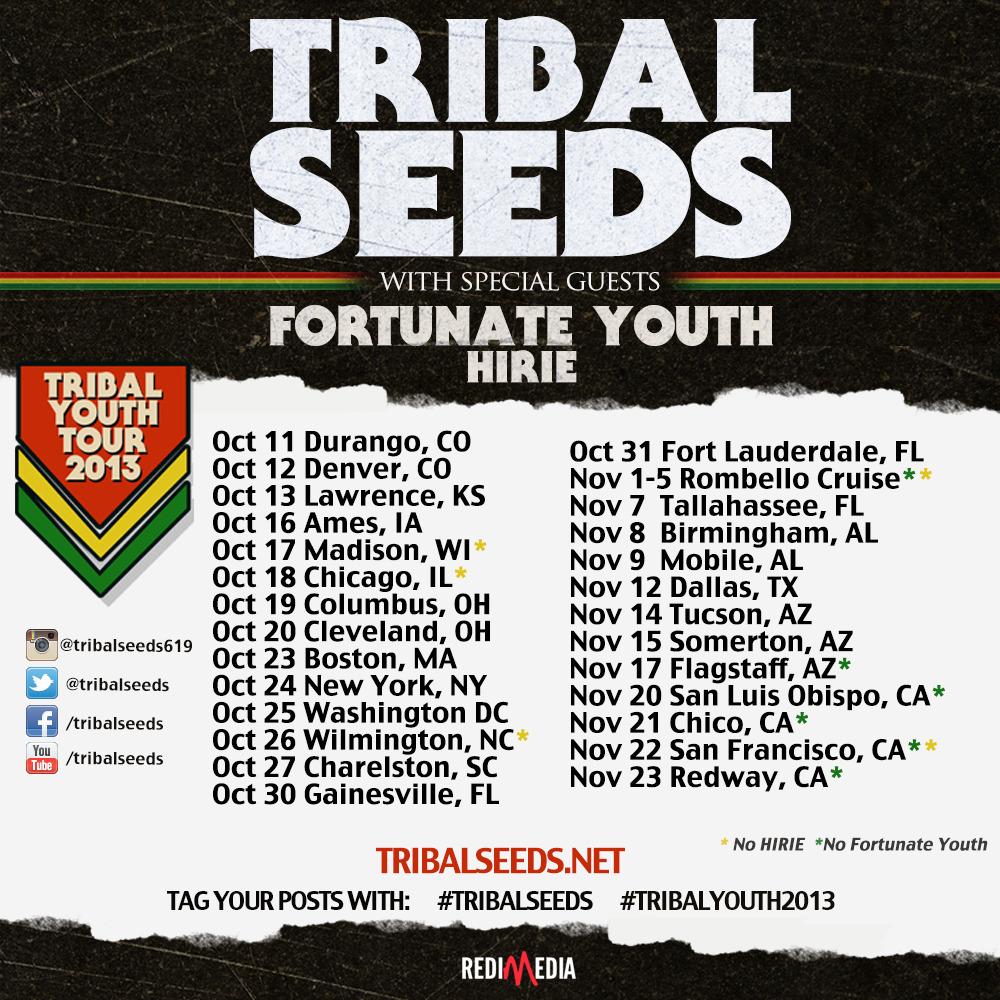 Tribal Seeds Fall Tour 2013