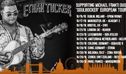 Ethan Tucker embarks on European tour with Michael Franti