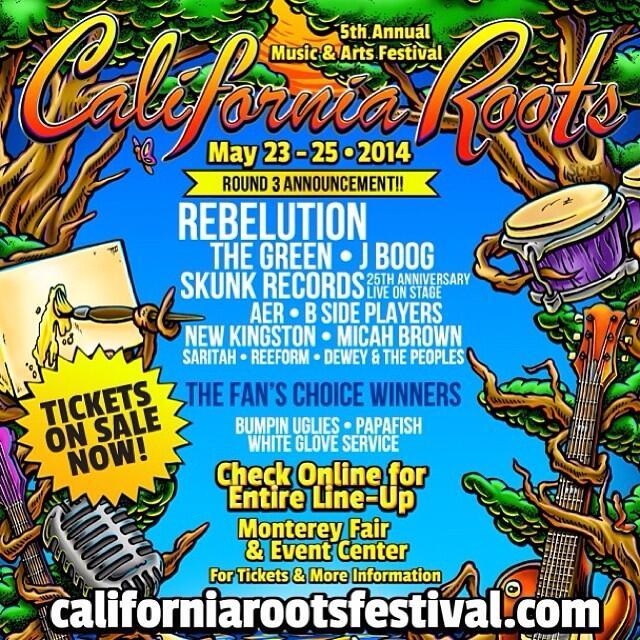 California Roots 2014 third round announcement