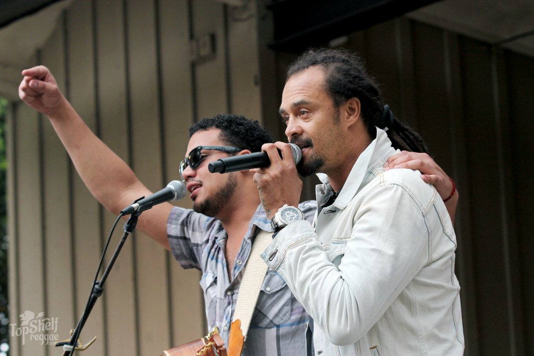 Ethan Tucker with Michael Franti