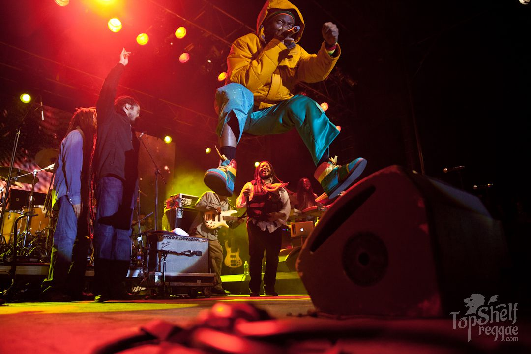 Capleton with the Marleys
