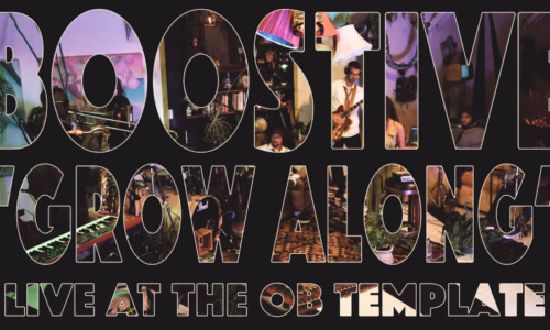"""WORLD VIDEO PREMIERE: Boostive """"Grow Along"""" Live at the OB Template"""