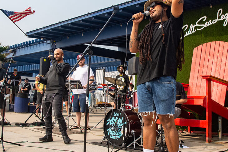 Ital Vibes performs live at Sealegs at the Beach